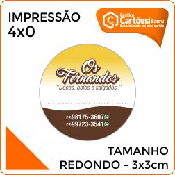 Adesivos Redondo 3x3cm Gráfica em Bauru
