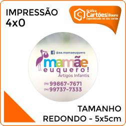 Adesivos Redondo 5x5cm Gráfica em Bauru