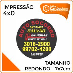 Adesivos Redondo 7x7cm Gráfica em Bauru