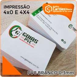 Cartão de visita PVC em Bauru