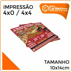 Panfletos 10x14cm Gráfica em Bauru