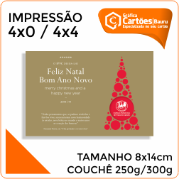 Cartão Postal 8x14cm Gráfica em Bauru