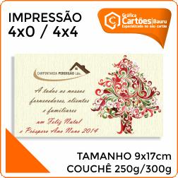 Cartão Postal 9x17cm Gráfica em Bauru
