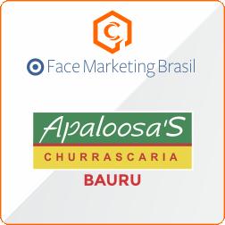 Divulgar no facebook cliente churrascaria Apaloosas