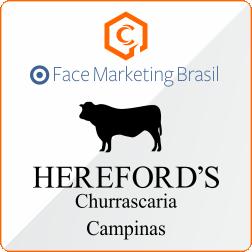 Divulgar no facebook cliente Churrascaria Herefords