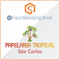Divulgar no facebook cliente Papelaria Tropical